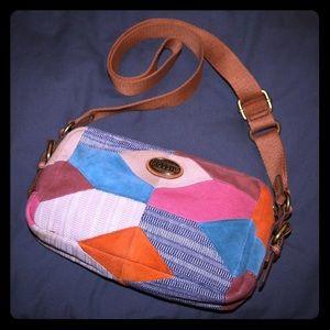 Fossil Patchwork Crossbody Bag
